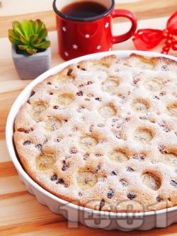 Лесен сладкиш / кекс с банани и стафиди - снимка на рецептата
